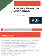 ph, densidad y viscosidad
