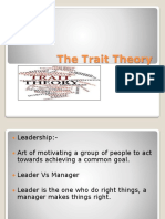 The Trait Theory