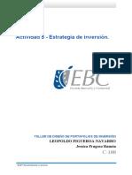 Actividad 5 - Estrategia de inversión.