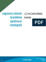 Diagnóstico y solución de problemas operativos en cromatografia