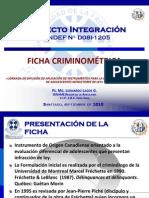 Ficha Criminométrica - Jornada de Difusión de Instrumentos SENAME Nacional