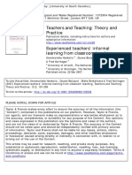 Experienced teachers' informal learning from classroom teaching