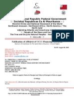 MACN-A035_Notification of Affidavit of UCC1 Financing Statement_MODOC TRIBE of OKLAHOMA