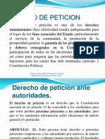 DERECHO DE PETICION Y ACCION DE TUTELA