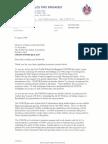 Commissioner Mullins Letter to WFSF - October, 2006