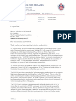 Commissioner Mullins Letter to WFSF - October, 2006