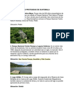 Areas Naturales Protegidas de Guatemala