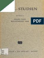 Gadamer (Hrsg.) - Hegel-Tage Royaumont 1964. Beiträge zur Deutung der Phänomenologie des Geistes-Bouvier (1966).pdf