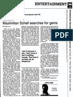 Maximillian Schell interview