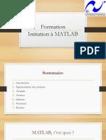 Formation MATLAB