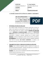 Recurso de Apelacion de Sentencia - Juan Jose Ospina Baleon