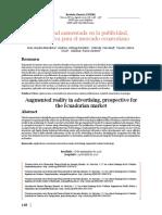 La Realidad Aumentada En La Publicidad Prospectiva