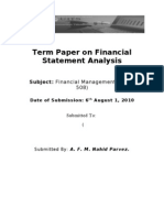 FM Term Paper on Financial Statement Analysis