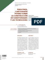 Paka Paka, una cartografia posible sobre la construccion de subjetividades y la tecnologia