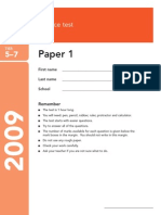 Test Paper Science