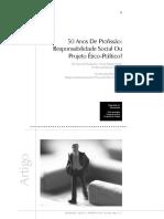 50 anos de profissao - responsabilidade social ou projeto etico politico- YAMAMOTO