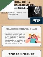TEORIA DE LA PERSONALIDAD DE STACK SULLIVAN