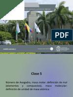 Clase_5 y 6_201901 Masa, avogadro, determinacion de formulas