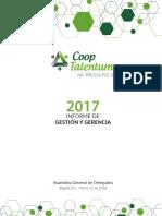 Informe Gerencia COOPTALENTUM 2017