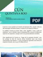 Cancún (aspectos generales) exposición PPX