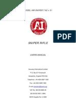 30632930 Accuracy International Model AW Sniper 7 62x51 Sniper Rifle Manual
