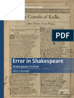 Error in Shakespeare Shakespeare in Error