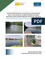 2012_Muestreo_macroinvertebrados_rios_no vadeables
