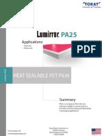 LUM PA25 Techincal Data Sheet - METRIC