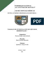MECANISMO DE ACCIÓN DE LOS MÉTODOS ANTICONCEPTIVOS HORMONALES