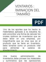 DETERMINACION DEL TAMAÑO DE LOS INV