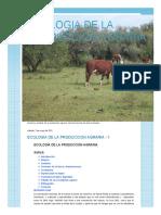 ECOLOGIA DE LA PRODUCCION AGRARIA