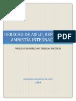 MONOGRAFÍA FINAL- DERECHO DE ASILO, REFUGIADO Y AMNISTIA INTERNACIONAL- MM