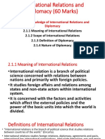 International Relations and Diplomacy (60 Marks)