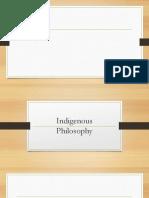 Indigenous Philosophies