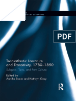Transatlantic Literature and Transitivity, 1780-1850 Subjects, Texts, and Print Culture