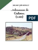Ordenanzas Municipales de Galisteo