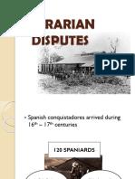AGRARIAN DISPUTES