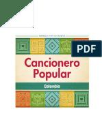CANCIONERO POPULAR COLOMBIA