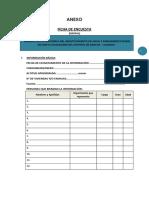 Ficha de Encuesta para diagnostico