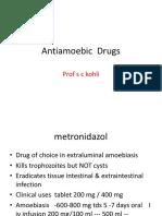 Antiamoebic  Drugs & anthelminths