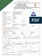 Application Details - Railway Recruitment Board 2019