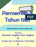 T02-Permen no 05 tahun 1985