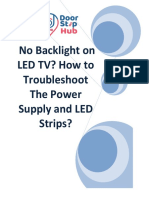 No Backlight on LED TV? How to Troubleshoot The Power Supply and LED Strips?