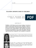 Teaching Mindfulness to Children Hooker and Fodor 2008