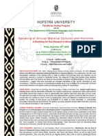 African Studies Workshop Program