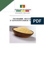 Programme Nattional Autosufisance Riz
