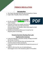 French Revolution Notes