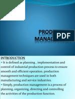 PRODUCTION MANAGEMENT 31.00