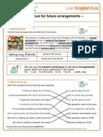 grammar-games-present-continuous-future-arrangements-answers
