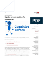Cognitive errors in medicine_ 2.The common errors - First10EM